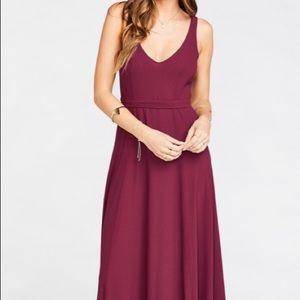 Show Me your Mumu Jenn Maxi Dress Medium Merlot
